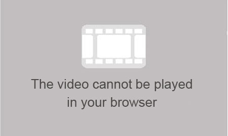 The video cannot be played in your browser