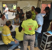 Tragsa collaborates in the control and extinguing of the fire in Huelva